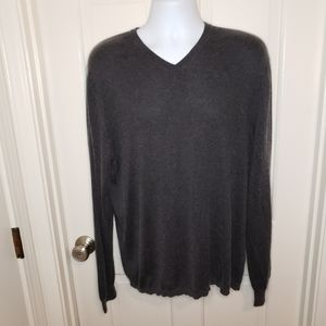 Banana Republic Men's Silk Cashmere V-neck Sweater